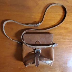 Handbags - Vintage Leather Bucket Crossbody